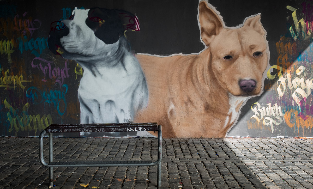2014-05 EM1 Graffiti Frankfurt Friedensbrücke 004