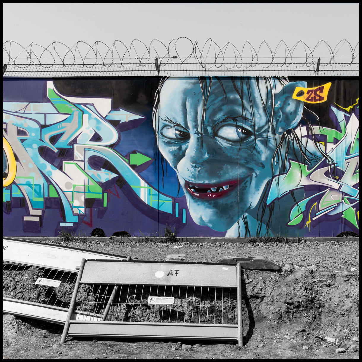 2013-05-05 D700 Graffiti Frankfurt EZB 007