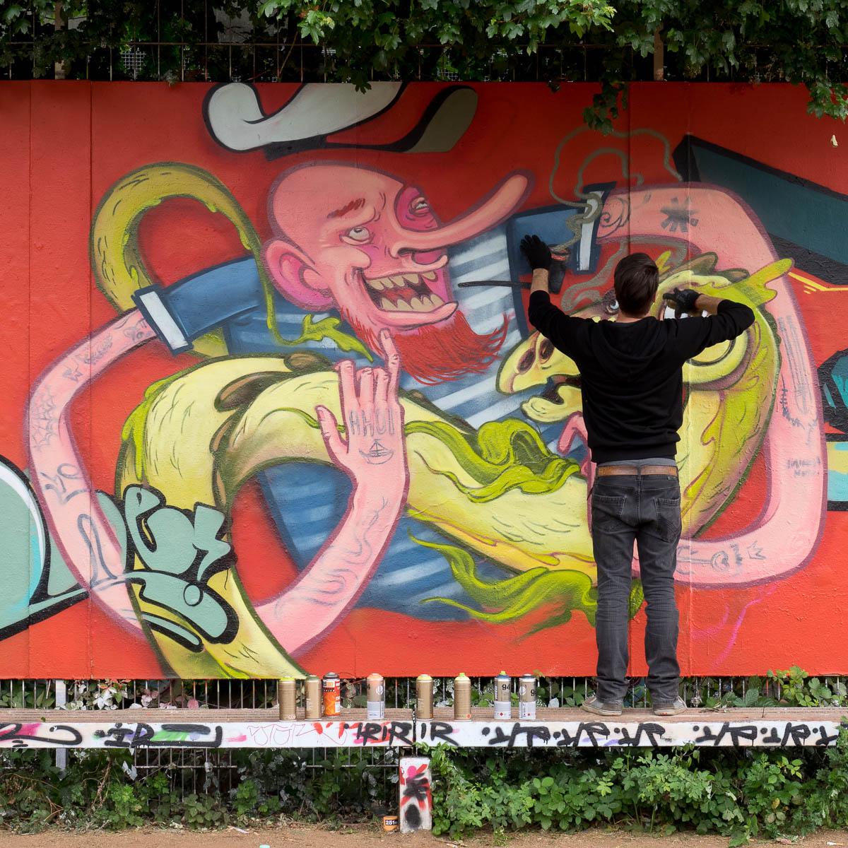 Graffiti Jugendhaus Bügel