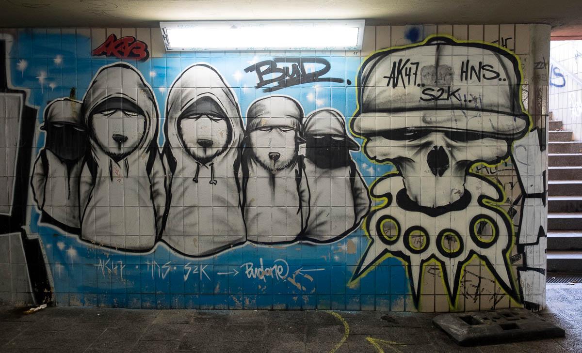 Frankfurt Graffiti Unterführung Hornbach