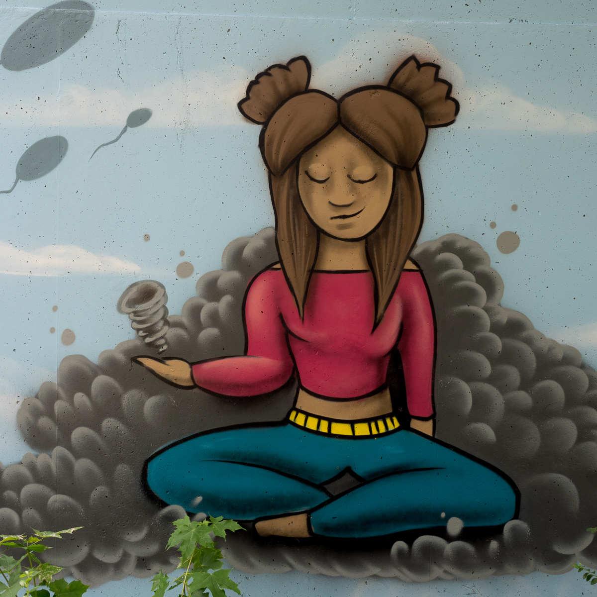 Graffiti Schelmengraben Garagenhaus JAM